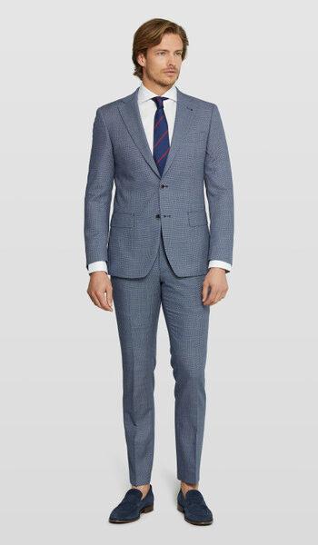 Van Gils Blue Hoodstooth wedding suit