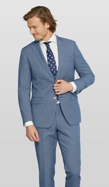 Van Gils vibrant blue wedding suit