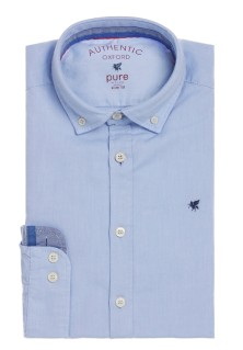 Pure blue oxford