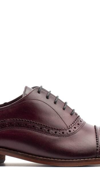 Oxford burgundy shoe