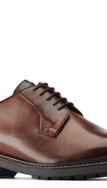 Base brown derby shoe