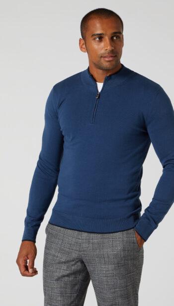 Remus Uomo Blue half zip