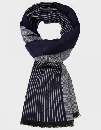 Michaelis Navy Stripe Scarf