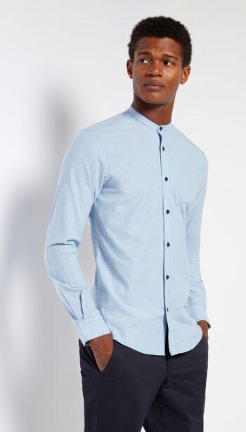 Remus Uomo Blue long sleeved shirt