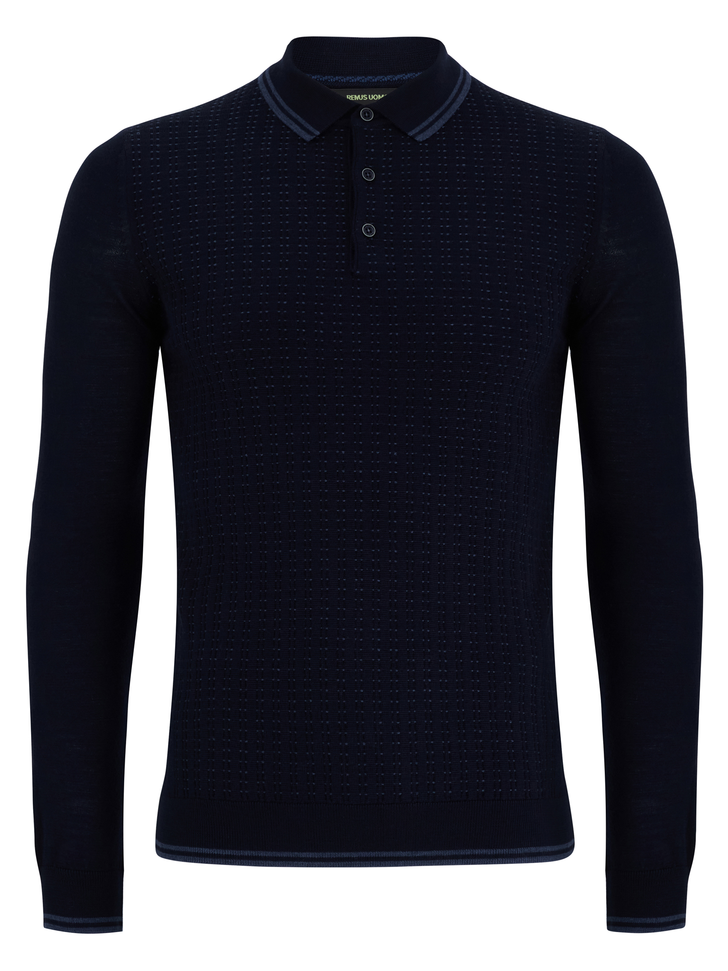 Remus Uomo 3 Navy 3 button polo