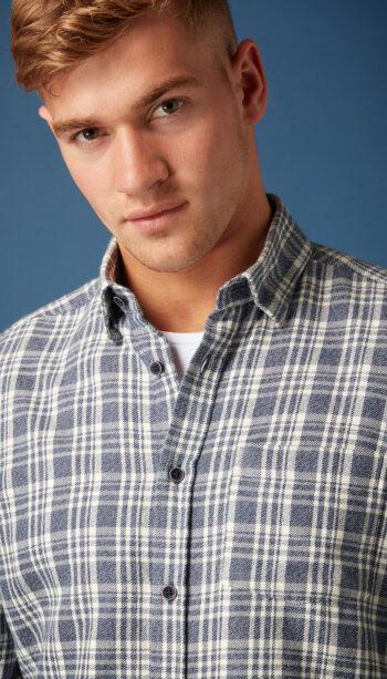 Remus Uomo Seville Blue Check Shirt