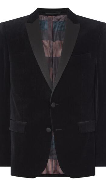 Remus Uomo Black Velvet Tux Jacket andMatching Waistcoat