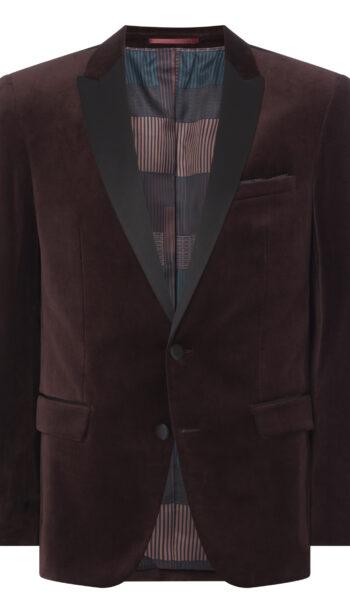 Remus Uomo Burgundy Velvet Jacket and Matching Waistcoat